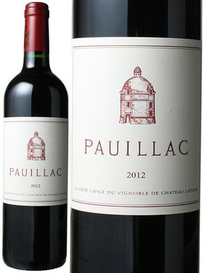 ポイヤック・ド・ラトゥール [2012] <赤> <ワイン/ボルドー>