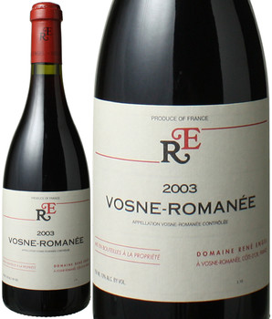 ヴォーヌ・ロマネ [2003] ルネ・アンジェル <赤> <ワイン/ブルゴーニュ>