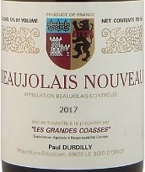 ボージョレ・ ヌーヴォー [2017] ポール・デュルディリ <赤>  <ワイン/ボージョレ>