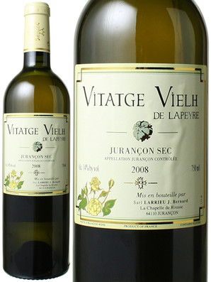 ジュランソン・セック ヴィタージュ・ヴィエイユ・ド・ラペール [2008] クロ・ラペール <白> <ワイン/フランス南西部>