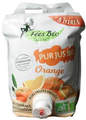 <次回入荷6月予定>【4個ロット】3000ml レ・フェ・ビオ オレンジジュース *ヨーロッパオーガニック認証取得ストレートジュース <ジュース>