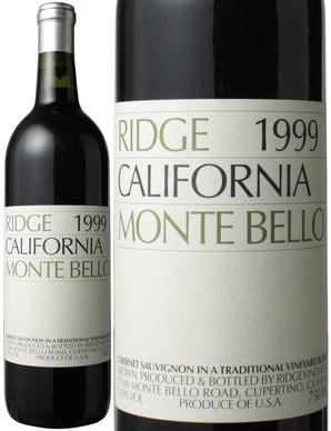 リッジ・ヴィンヤーズ モンテ・ベッロ [1999] <赤> <ワイン/アメリカ>