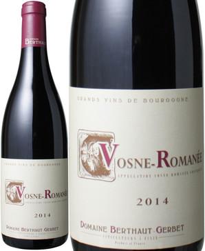 ヴォーヌ・ロマネ [2014] ベルトー <赤> <ワイン/ブルゴーニュ>